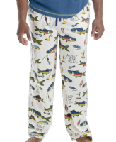 Men's Asleep At The Reel PJ Trousers - Lazy One®  | Fishing Pyjama Bottoms